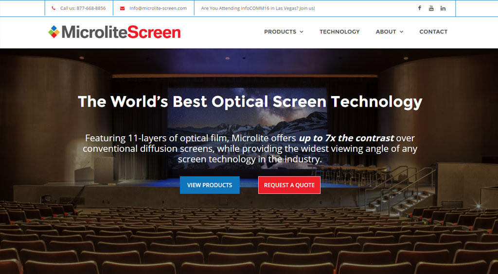 Young Company Web Design for Microlite Screen