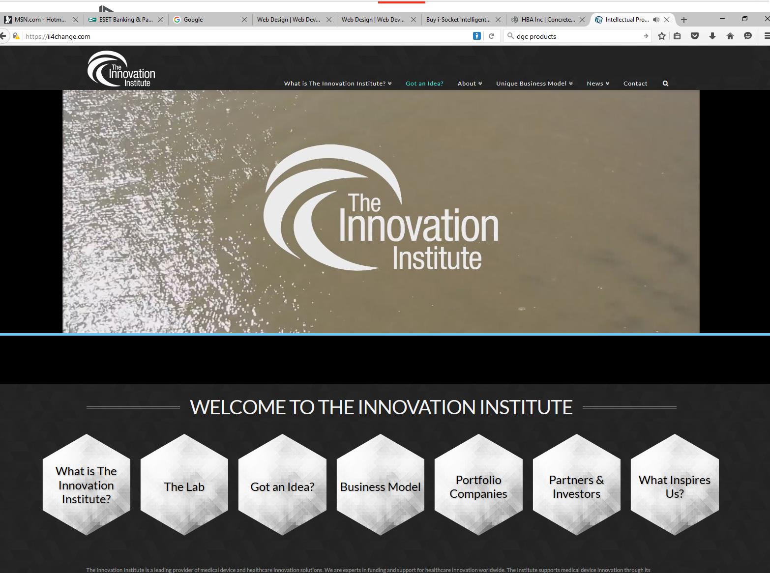 Innovation Institute for landing page