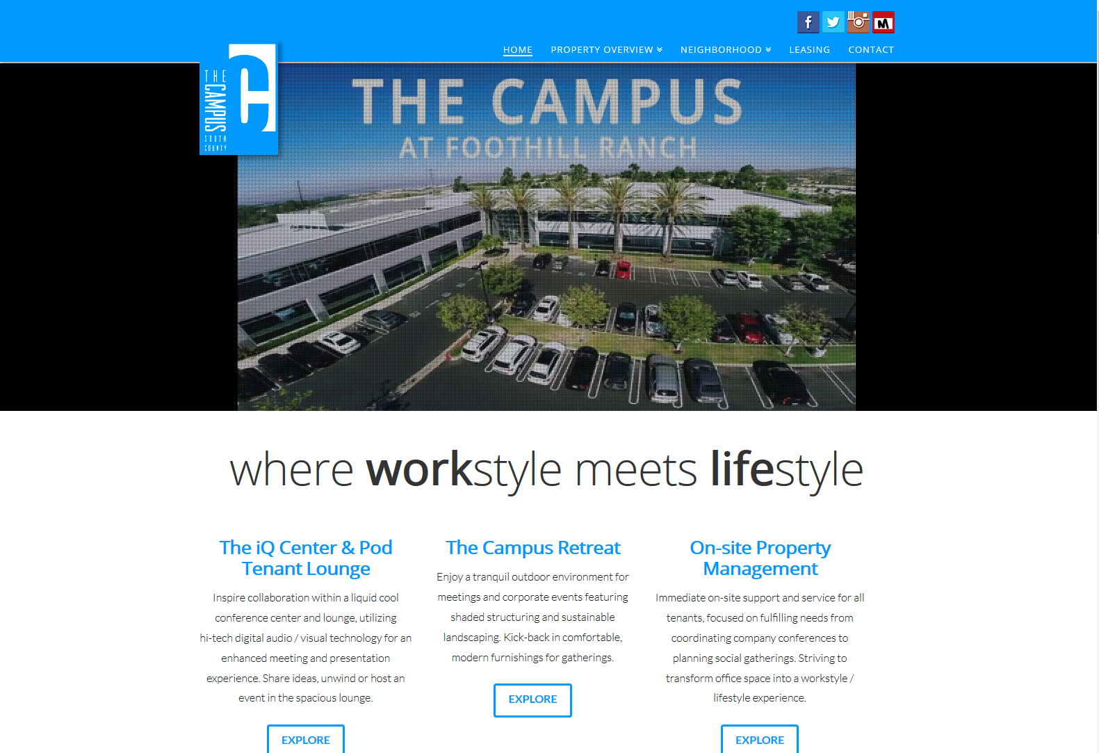 The Campus for landing page