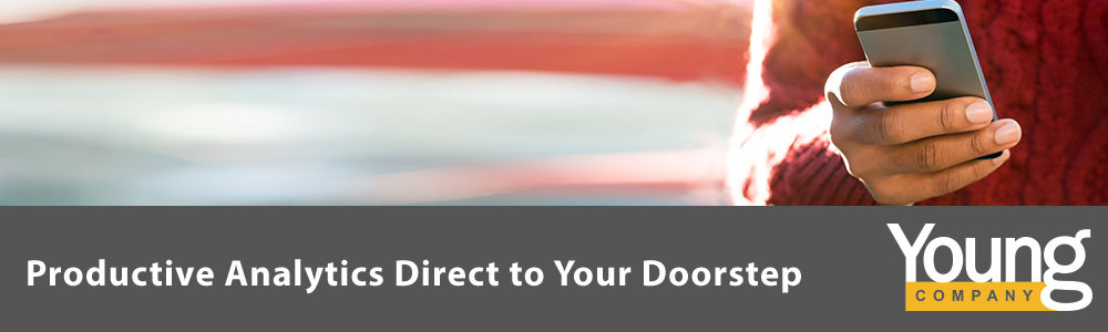 Productive Analytics Direct to Your Doorstep