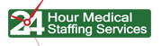 24 Hour Medical Staffing Services Logo