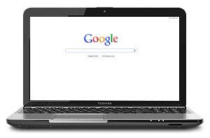 Digital Marketing - Google on a Laptop