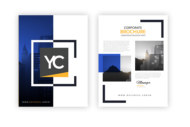 Collateral Brochures with Young Company Cover