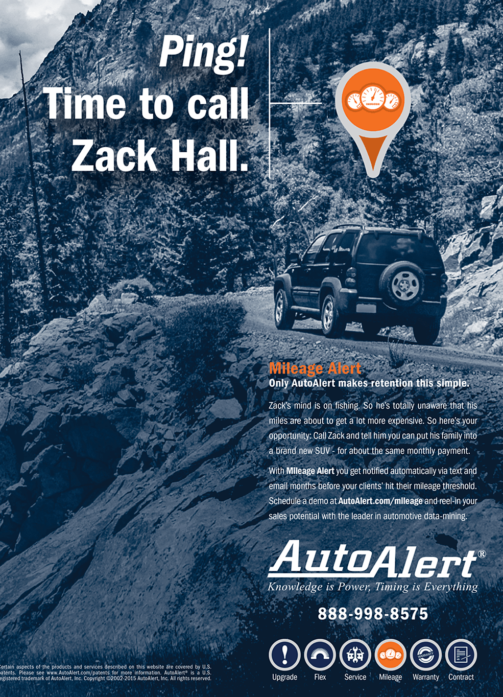 Auto Alert Ad - Time to Call Zack Hall