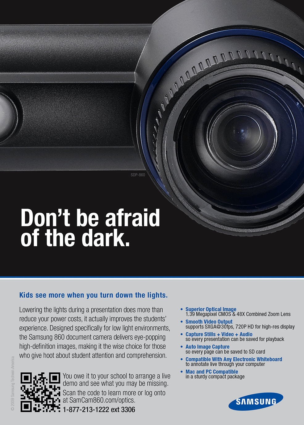 Samsung - Don't be afraid of the dark.