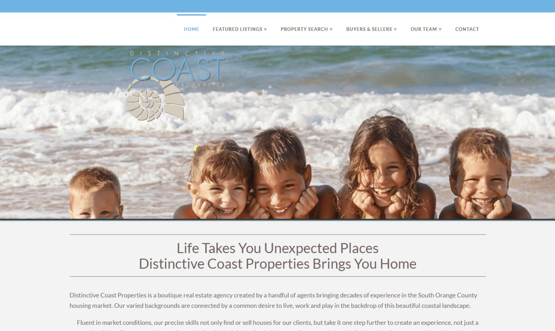 Distinctive Coast Properties Website