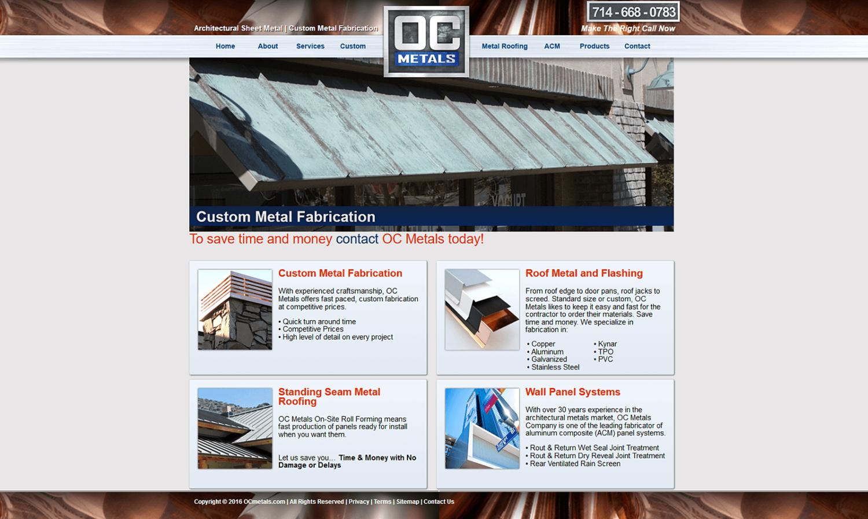 OC Metals Website