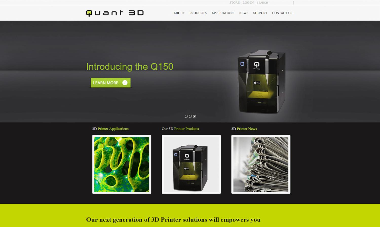 Quant 3D Website