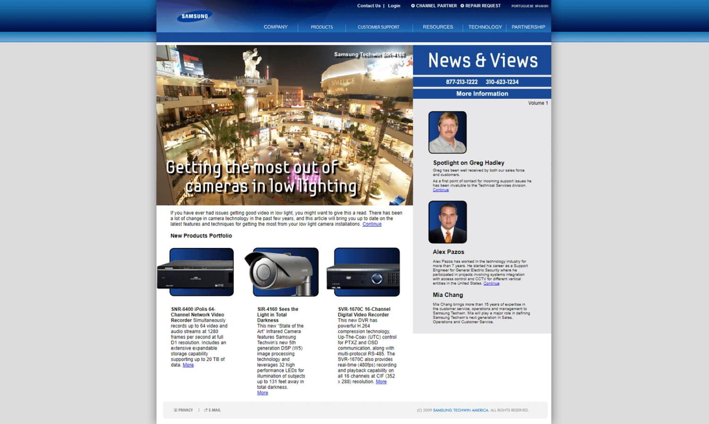 Samsung Website for News