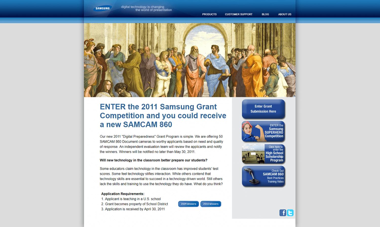 Samsung Website for Grants