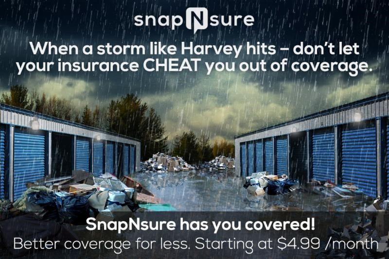 SnapNsure Storage Ad