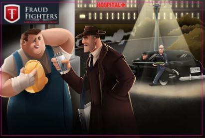 Fraud Fighters - Detective Cartoon