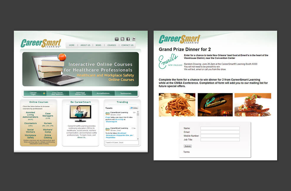 CareerSmart - Integrated Marketing - Website