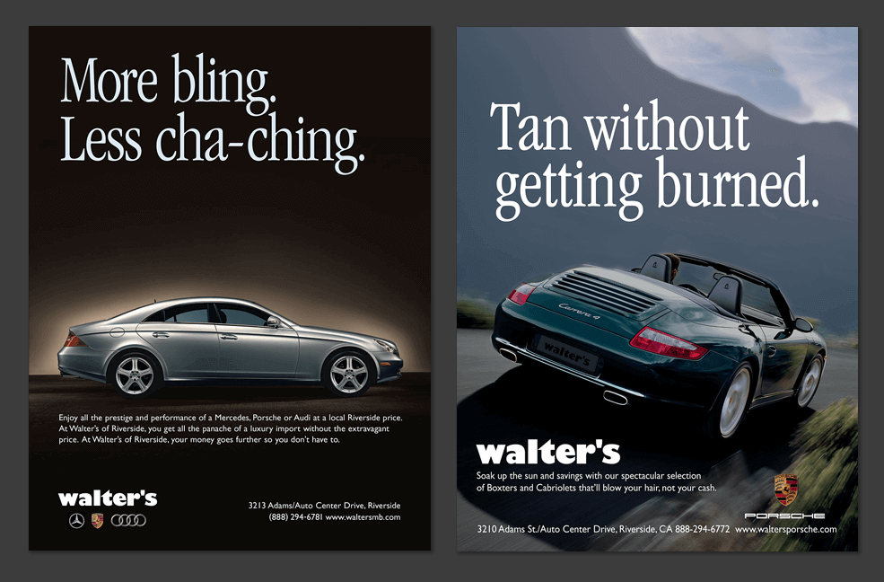 Walter's Integrated Marketing - Print Ads