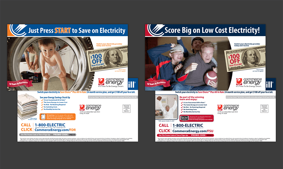 Commerce Energy – Clear the Skies - Direct Mail