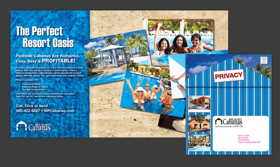 Resort Cabanas - Direct Mail