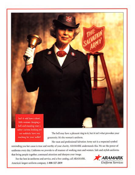 Aramark Ad- Trust - Salvation Army