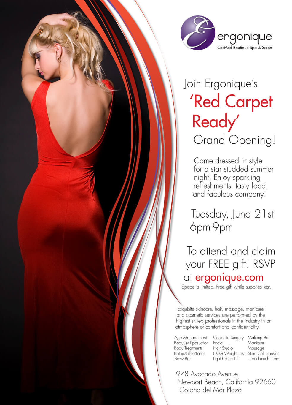Ergonique Print Ad - Red Carpet Ready