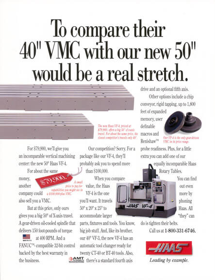 Haas Print Ad - To compare their 40""