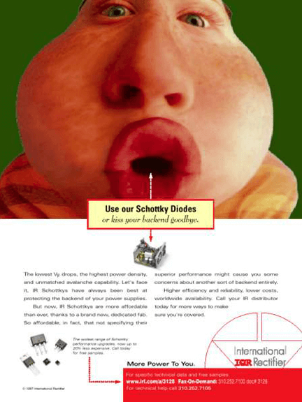 International Rectifier Print Ad - Diode Kiss