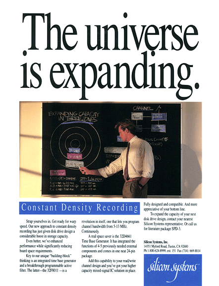 Silicon Systems Print Ad - Expanding Universe