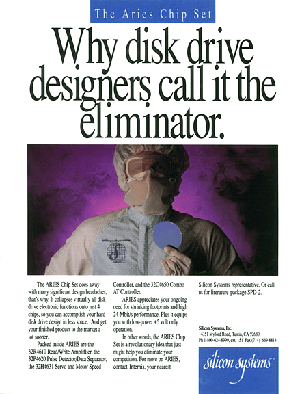 Silicon Systems Print Ad - Systems Eliminator