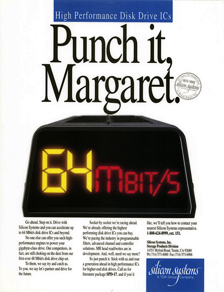 Silicon Systems Print Ad - Punch it, Margaret