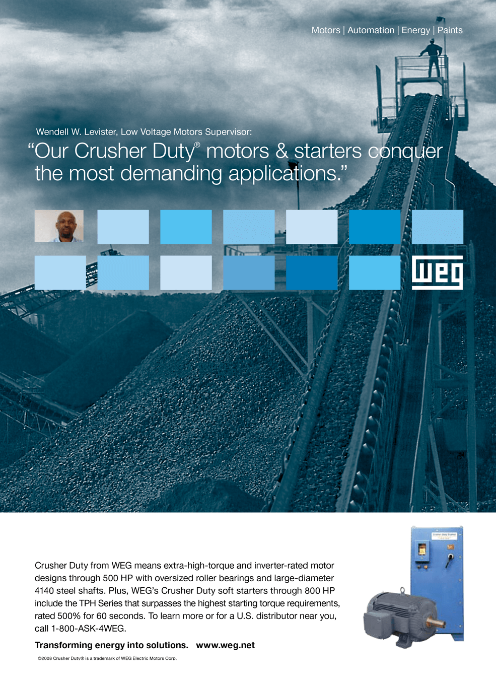 WEG Print Ad - Our Crusher Duty
