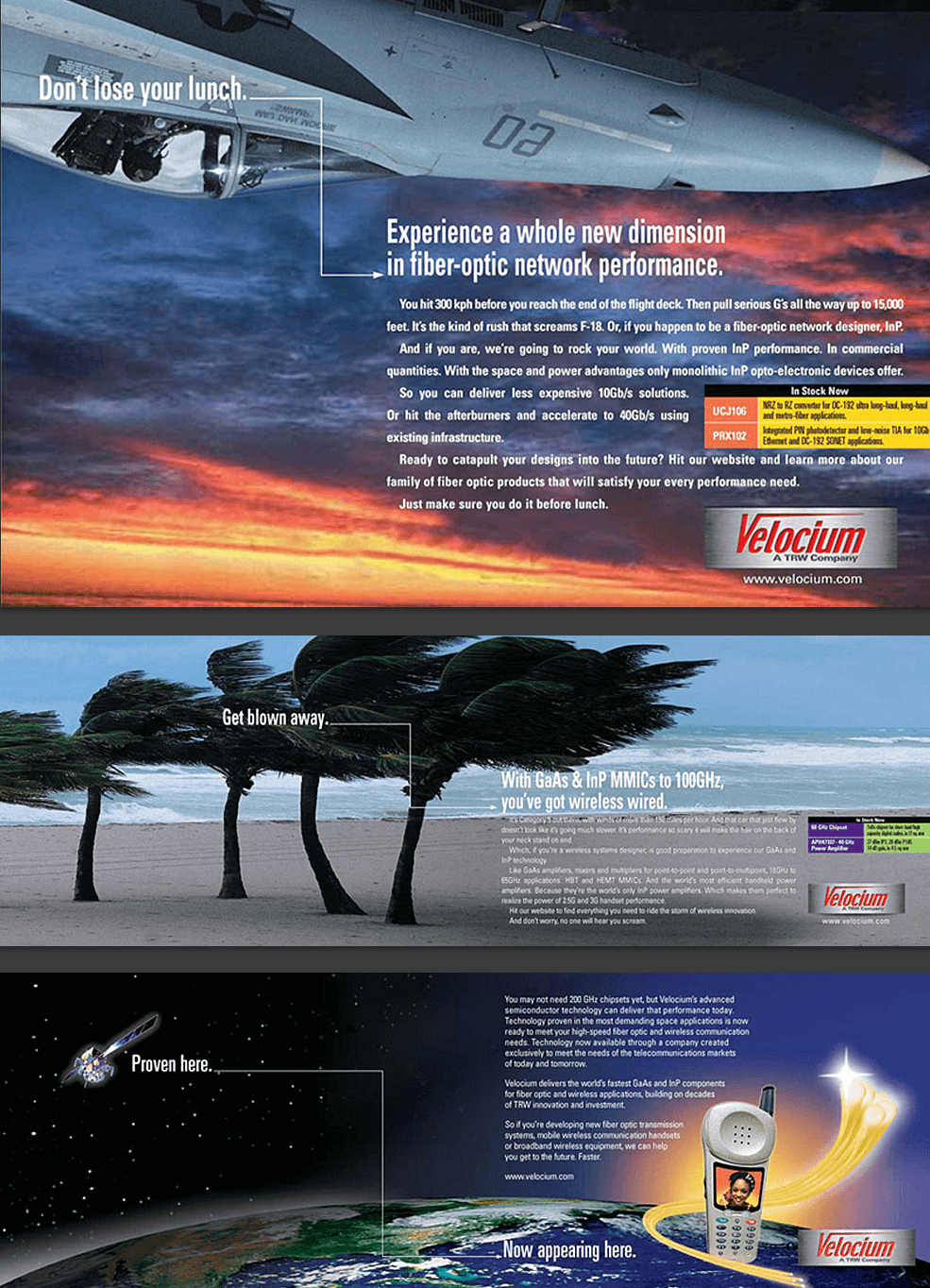 Velocium Print Ads