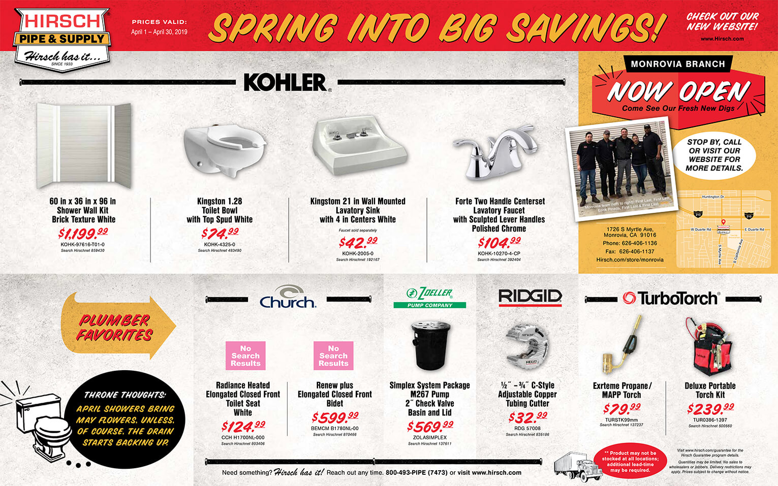 Hirsch The Pipeline - Monthly Direct Mailer